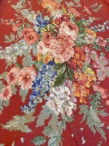 Ralph Lauren Beach House Fuschia Southampton King Ruffled Pillowcase Red Floral