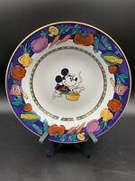 Disney Stoneware Minnie Mouse Soup/Cereal Bowls With Vegetable Rims Set of 2