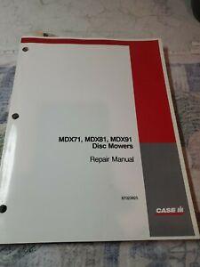 CASE MDX71 MDX81 MDX91 DISC MOWER SERVICE REPAIR SHOP WORKSHOP MANUAL 87023825