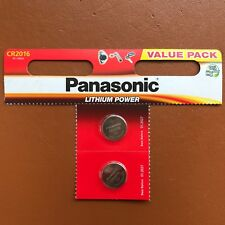 2 x Panasonic CR2016 Batteria A Bottone Al Litio 3 V 2016