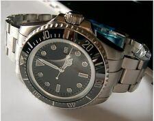 Parnis 44mm Black dial date ceramic bezel   Automatic movement men's watch