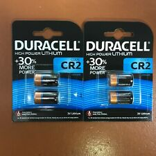 4 x Duracell CR2 3V Ultra Lithium Photo Battery DLCR2 ELCR2 CR15H270 LONGEST EXP