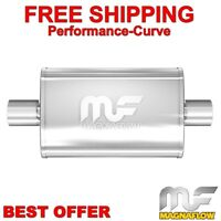 "Center 2.25/""//2/"" In//Dual Out 14/"" Body Magnaflow 12148 5/""x8/"" Oval Muffler"