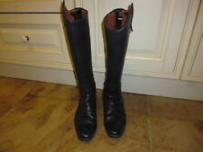 Sergio Grasso Sanremo 12500 long leather riding boots rear zip black UK 7 EU 41