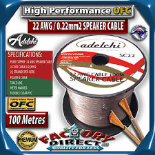 100M High Performance 22AWG 0.22mm2 100% Ultra Pure OFC Audio Cable Speaker Wire