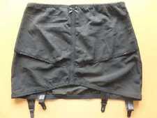 """VARIATIONS Open Girdle _ 38-41"""" waist Black _Pull-on Garter Suspender Belt _NWOT"""