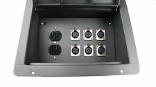 Elite Core Stage Floor Box w/ 6 Xlr Female Mic Connectors & Duplex Ac Outlet
