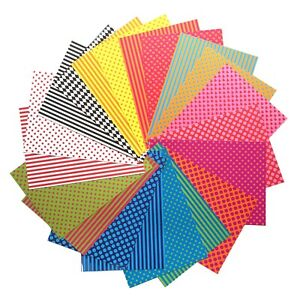 Patterned Card A4 250g Double Sided Assorted Patterns & Colours - Pack of 10