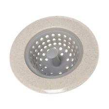 Sink Strainer Hair Trap Shower Bath Kitchen Basin Hole Waste Catcher Beige