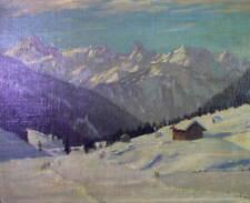 Alexander WEISE (1883 Odessa - 1960 München) - Alpen Winterlandschaft oil/canvas