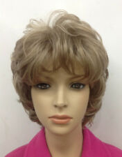 Honey Ash Blonde Mix women Ladies Daily natural Fluffy Wigs + free wig cap