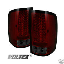 2007-2012 GMC SIERRA 1500 2500 3500 HD DENALI LED TAIL LIGHT LIGHTBAR RED SMOKE