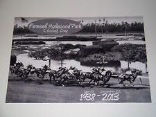FAREWELL HOLLYWOOD PARK Racetrack Commemorative 12x18 B&W 2013 Closing Day Photo