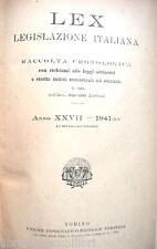 LEX Legislazione Italiana A cura di Giovanni Davicini II semestre 1941 UTET di e