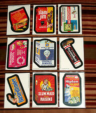 "2005 WACKY PACKAGES ALL NEW SERIES 3{ANS3} Complete ""MAGNET"" Set 9/9 + 1 Wrapper"