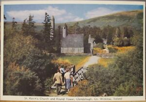 Irish Postcard St KEVIN'S Church GLENDALOUGH Co Wicklow Ireland Cardall Ser 54