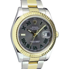 ROLEX - Mens 18kt Gold & Stainless DateJust II Slate Roman 116333 - SANT BLANC