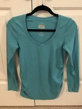 Old Navy Maternity LS Ruched-side Top, Size X-Small
