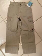 French Toast Boys Uniform Khaki Pants Size 4 Beige Adjustable Elastic Waistband