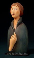 "AMEDEO MODIGLIAN Sculpture MO09 ""AUX YEUX BLEUS FEMME Bleu Eyed woman"""