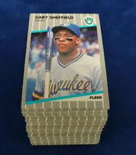 1989 FLEER #196 GARY SHEFFIELD RC LOT OF 110 MINT B253949