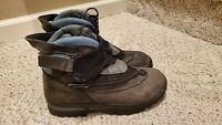 Women's Salomon Snow Winter Waterproof Boots Gray Size 8 NICE!