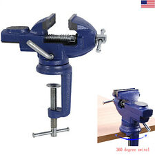 Mini Table Vise 360° Degree Rotating Craft ,Hobby, Jewelry Clamp On Swivel Vise