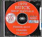 1970 Buick Shop Manual and Body Repair CD Riviera LeSabre Electra 225 Wildcat 70