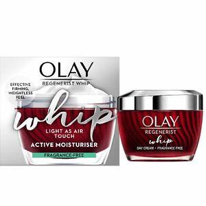 Olay REGENERIST WHIP Light As Air Touch Active Moisturiser, Fragrance Free 50ml