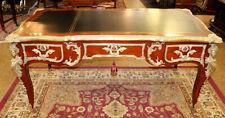 Incredible French Louis Xv Style Kingwood Gilt Bronze Mounted Bureau Plat Desk