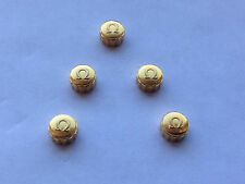LOT OF 5 X OMEGA YELLOW GOLD PLATED WATCH CROWN KEYS. (5.98mm x 3.65mm). OC7