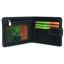 Mens Black/Brown Leather Wallet - Golunski Oak - Card + ID Section -Style 7-703