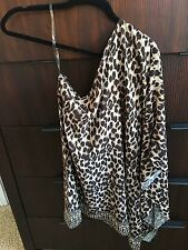 michael kor Leopard One Shoulder Dress S/XS