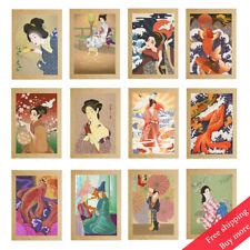 "Vintage Poster Kimono Lady Geisha Japanese Ukiyoe Art Paint Wall Decor A4 8""x12"""