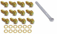 Spectre 46523 Intake Manifold Bolt Kit 3/8-16 x 1 inch Gold Irridate w/ wrench