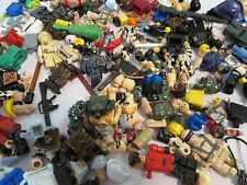 Assorted Lot Lego Minifigs Body Parts Helmets Heads Weapons Mini Figures 10oz