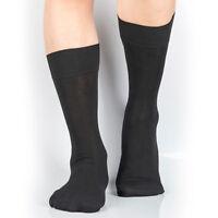 LOT 1/4/8 pairs Mens Crew Calf Dress Socks Cotton/Nylon 7-12/13-15 Big and Tall