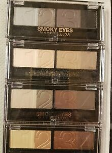 🔥 Maybelline Eye Shadow Quad Smoky Eyes or Natural Impact ---ASSORTED---🔥