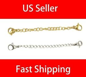 """Extender /Safety Chain Extender Necklace Bracelet Lobster lock 3"""" or 6"""""""