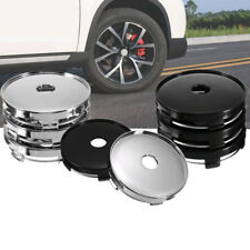 60mm ABS Universal Car Wheel Tire Rims Center Hub Caps Cover Decorative 4pcs