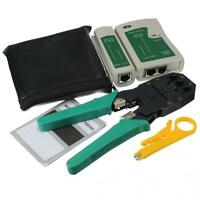 Rj45 Rj11 Cat5 Network Tool Kit Cable Tester Crimp Crimper Lan Wire Stripper