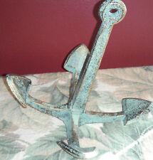 "Nautical Antique Bronze Cast Iron Sitting Anchor Decor 6"" x 5"" x 6 1/4"""