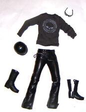 Ken Fashion Shirt/Black Faux Leather Pants For Ken Doll kf10