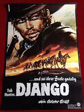 Django Sein letzter Gruß Kinoplakat Poster A1 Western 1968, Tab Hunter