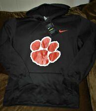 Clemson Tigers HOODIE sweatshirt Men's MEDIUM NEW w Tags Nike Therma-fit gray