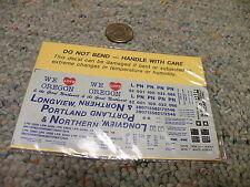 Herald King decals HO B-1500 Longview Portland Northern orange 50' box car   D29