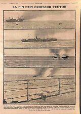 Explosion Croiseur Cruiser Navarra Kaiserliche Marine Orama Royal Navy WWI 1915