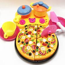 9Pcs Children Kids Pizza Cutting Kitchen Cooking Pretend Role Play Toy Set Beamy