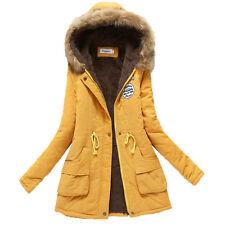 Moda Mujer Chaqueta De Invierno Abrigo Cuello Parka Outdoor cálido