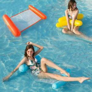 Summer Inflatable Floating Water Hammock Pool Lounge Bed Swimming Chair Beach J